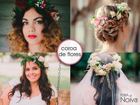 Coroa de Flores como acessório para noiva!